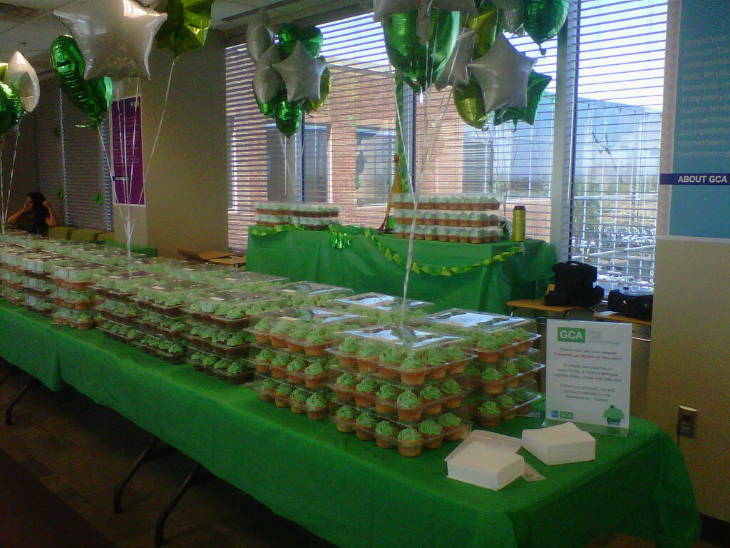 Am Express corporate function - 1,020 cupcakes